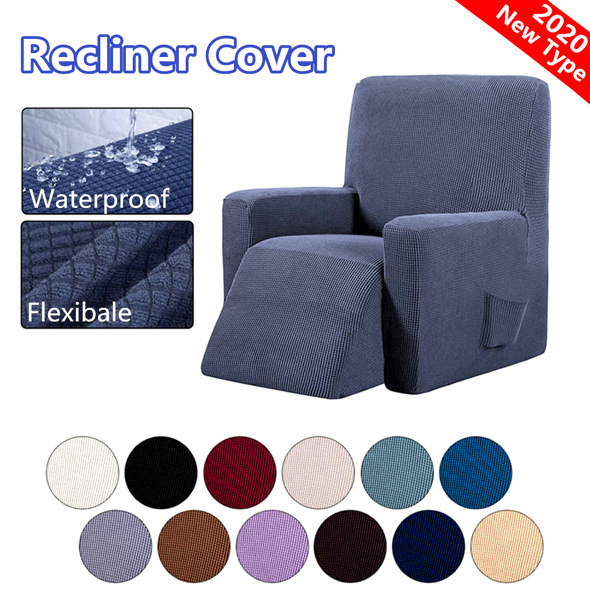 Waterproof Recliner Couch Cover All inclusive Sofa Cover Seat Elasticity Stretch Anti slip Furniture Slipcovers Chair Protector|Chair Cover|Home & Garden - title=
