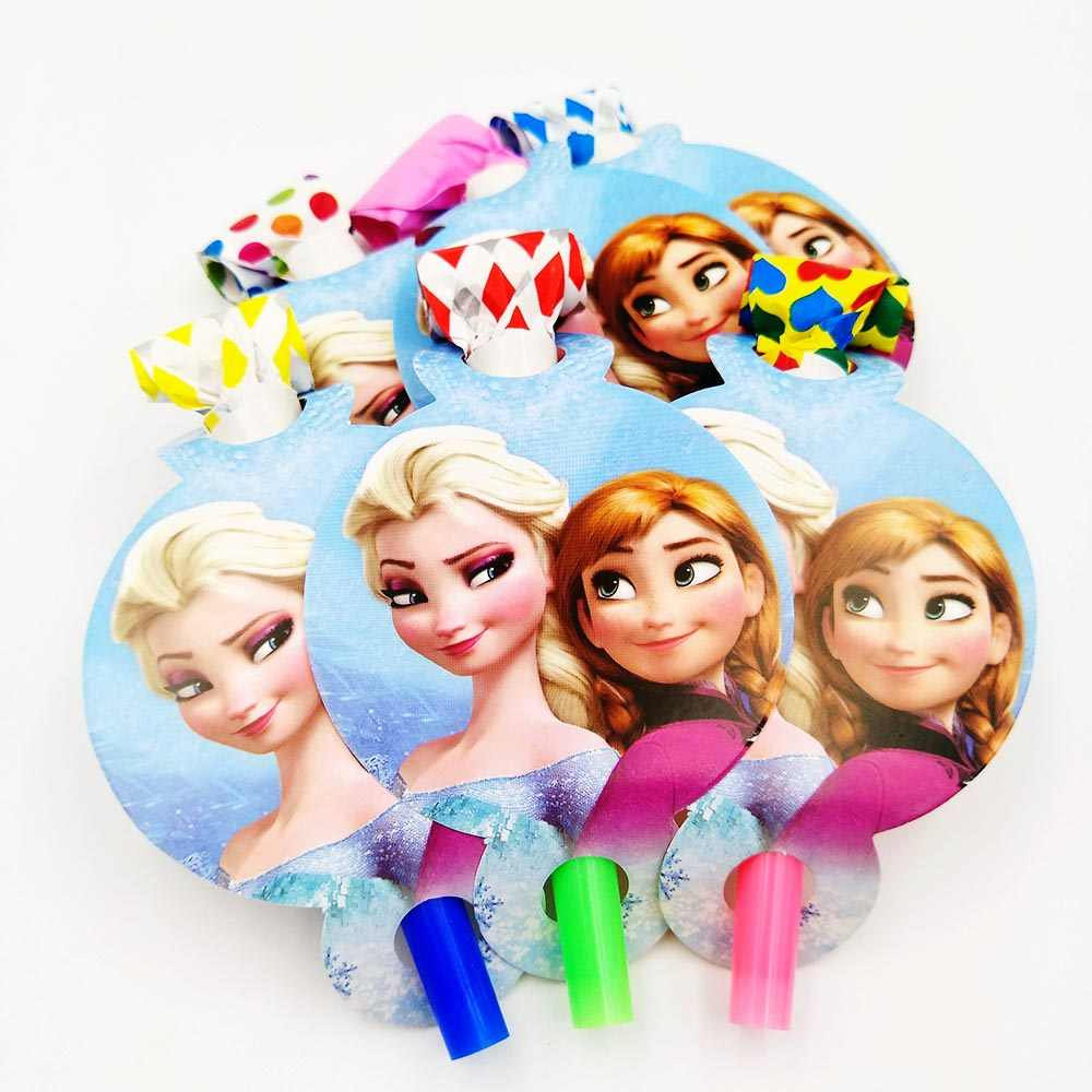 Disney Frozen Anna And Elsa party supplies for kids Plates cup napkin Knife fork spoon cap Birthday Party Supplies Baby Disney