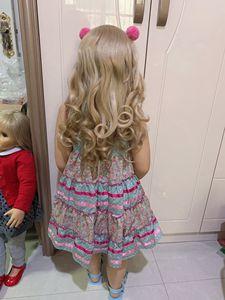 Image 5 - 100CM Hard vinyl toddler princess blonde girl doll toy like real 3 year old size child clothing photo model dress up doll
