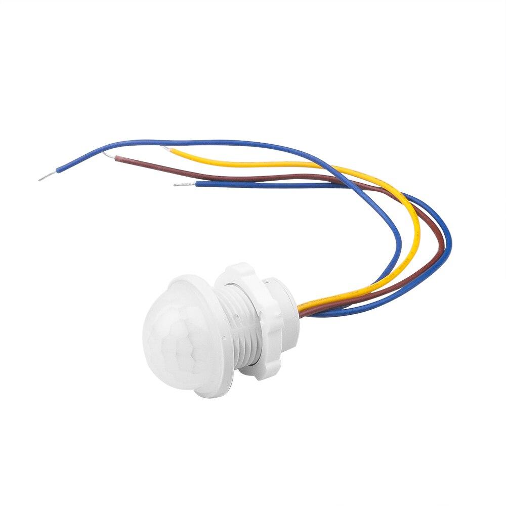 Sensor de movimento com luz infravermelha, sensor de tempo para iluminação doméstica, pir switch, luz led sensível 110v 220v lâmpada de luz