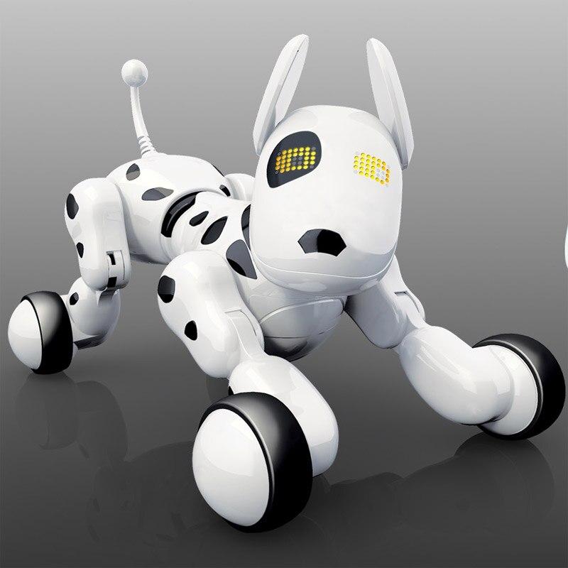 Télécommande chien Intelligent chant et danse Robot chien électronique Intelligent jouet éducatif pour animaux de compagnie pour enfants cadeaux d'anniversaire