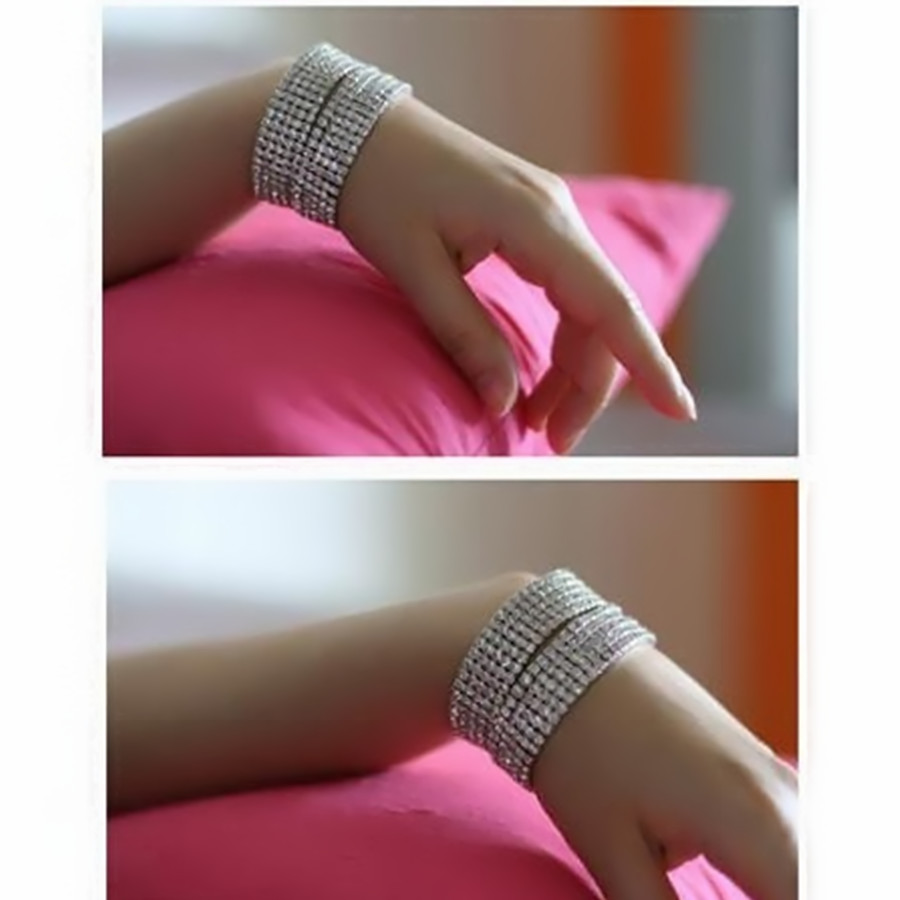 Crystal Jewelry Bling Iced Out Cubic Zirconia Bracelet For Women Hand Chain Rhinestone Pulseras Mujer Friendship Christmas Gift in Chain Link Bracelets from Jewelry Accessories