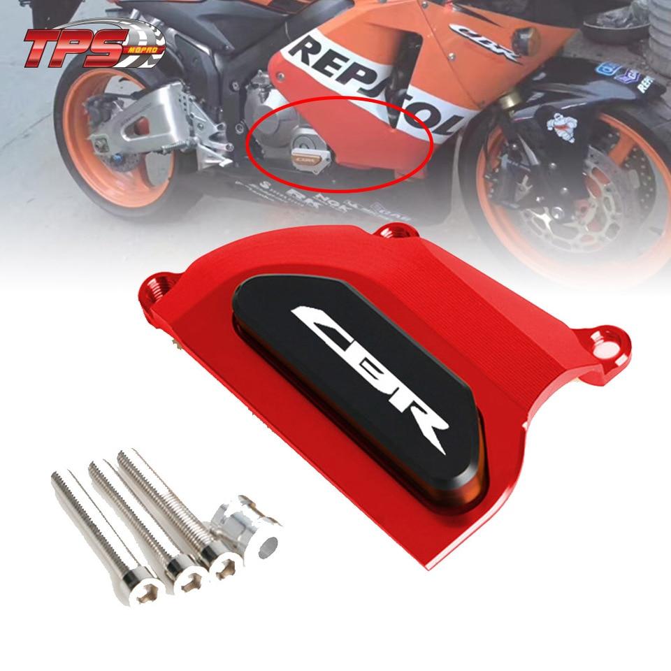 Luckmart Motorcycle Engine Cover Protector Guard Crash Side Frame Slider Fits Compatible for Honda CBR 600RR 2003 2004 2005 2006 Red