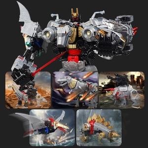 Image 1 - Bmb 変換 dinoking volcanicus ボックス男児スラグ汚泥うなり声急襲スラッシュ dinobots 5IN1 合金アクションフィギュアロボットのおもちゃ
