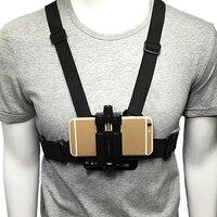 Soporte de pecho ajustable para teléfono móvil arnés de correa arnés Universal arnés de cuerpo y pecho soporte de Clip para teléfono para teléfonos móviles