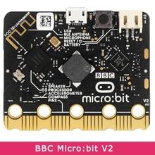 BBC Micro:bit V2 Модернизированный процессор емкостный сенсорный датчик встроенный микрофон BLE 5,0 Светодиодный индикатор для детей