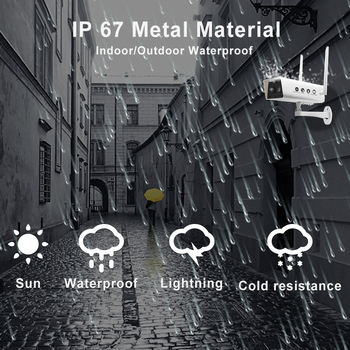 Wireless Solar Camera 1080P Security Surveillance Camera Waterproof IR Night Vision Support TF card 10200MAh P2P cloud Use 3
