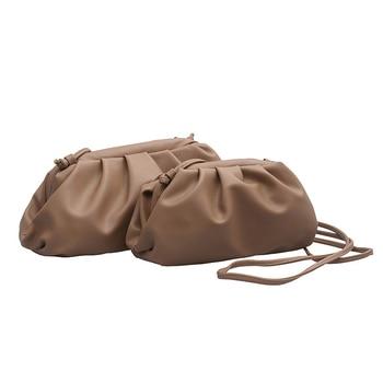 2020 New High Quality Shoulder Bag Women Simple Solid Dumplings Package Ladies Personality Large Capacity Handbags Designer Bags