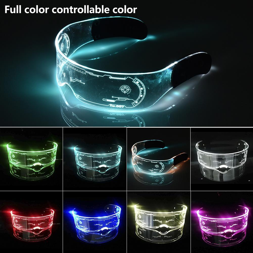 Красочные светящиеся очки EL, светодиодная подсветильник ка, козырек, очки для бара KTV, украшения на Рождество, день рождения, новый год