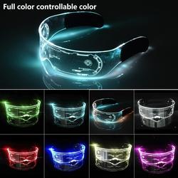 Colorful EL Luminous Glasses Led Light Up Visor Eyeglasses for Bar KTV Christmas Birthday Party New Year Decorations