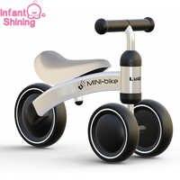 Niño brillante bebé equilibrio bicicleta andador niños paseo en juguete regalo para niños de 10-24 meses de aprendizaje paseo Scooter