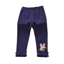 Toddler Kids Baby Girl Boy Pant Leggings Ruffles Solid Casual Long Pants Soft Cotton Trousers Baby Clothing
