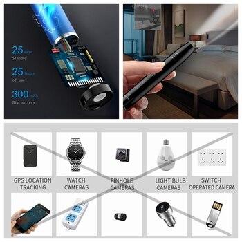 Cámara oculta detector RF inalámbrico Detector de señal error Finder Anti escuchas Cámara GPS WiFi agujero rastreador de señales portátil