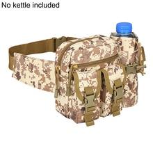 Men Waist Bag Tactical Pack Pouch With Water Bottle Holder Waterproof 800d Nylon Belt Bum