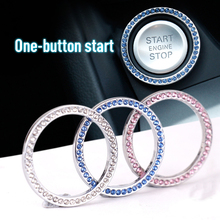 Car SUV One-button Start Decorative Ring Diamond-encrusted Car Start Ring Auto Switch Decoration Accessories