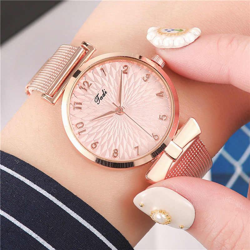 2020 nowych moda damska zegarki kwarcowe cukierki kolor panie zegarek złoty Stell zegarek na pasku Reloj Mujer zegar prezenty dla kobiet