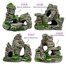 1 шт. аквариумный аквариум из искусственной смолы, вид на гору, замок, пещера-украшение для аквариума, аксессуары для аквариума