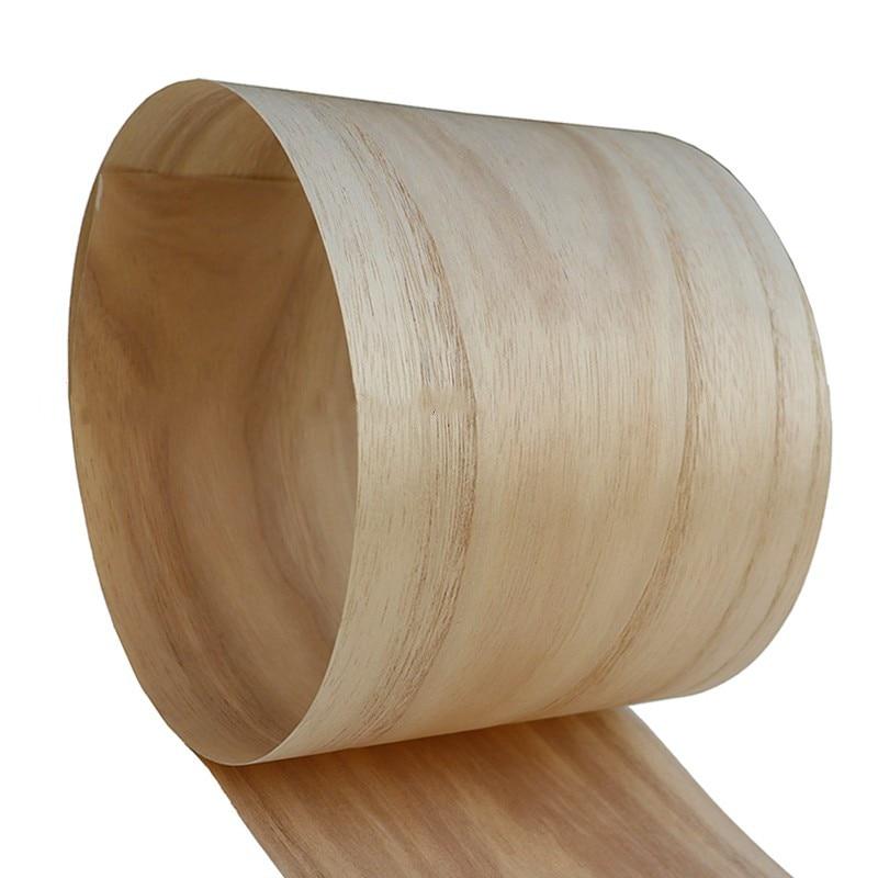 2x Natural Genuine Paulownia Wood Veneer For Furniture 20cm X 2.5m 0.25mm Thick Light Grain C/C