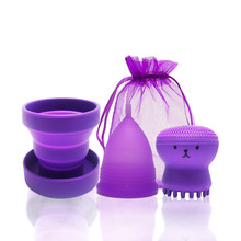 Copa Menstrual de higiene femenina, Copa médica de silicona para el período Menstrual, recolector de menstruación reutilizable