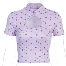 Женская тонкая сексуальная облегающая футболка с воротником