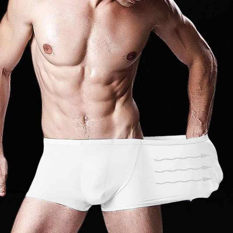 Sommer Eis Seide Unterwäsche Männer Sexy Nahtlose Höschen Plus Männer Komfortable Und Größe Unterwäsche Atmungsaktive Soft O1Y7