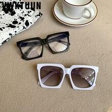 Vwktuun óculos de sol mulher 2020 óculos quadrados uv400 óculos de sol para mulher condução motorista óculos de sol grande vintage quadros