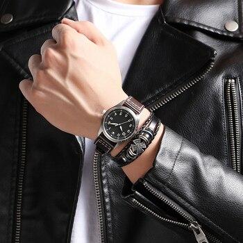 Wasserdichte Kunststoffkoffer | Herren Uhr Sapphire Objektiv Echte Leder Tauchen Uhr C3 Luminous 500m Wasserdicht Sport Automatische Mechanische Uhr