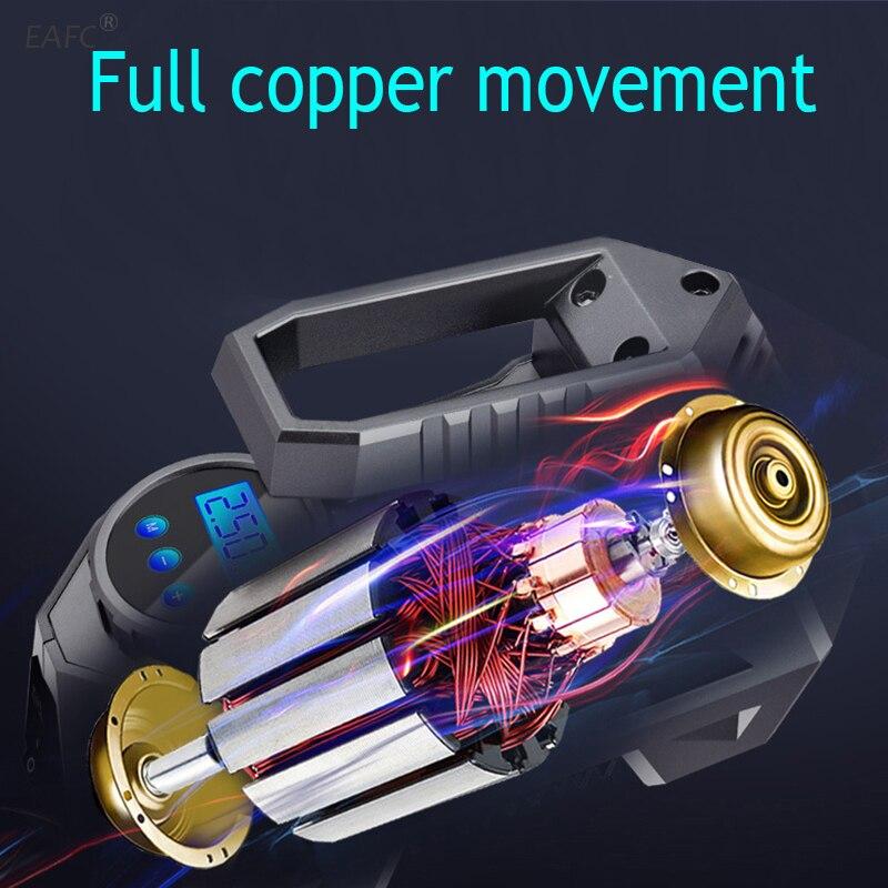 ar-bomba de pneu do carro com calibre