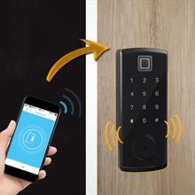 цены на Bluetooth Keypad Card Reader Digital Fingerprint Password Keyboard Smart Electronic Door Lock  в интернет-магазинах