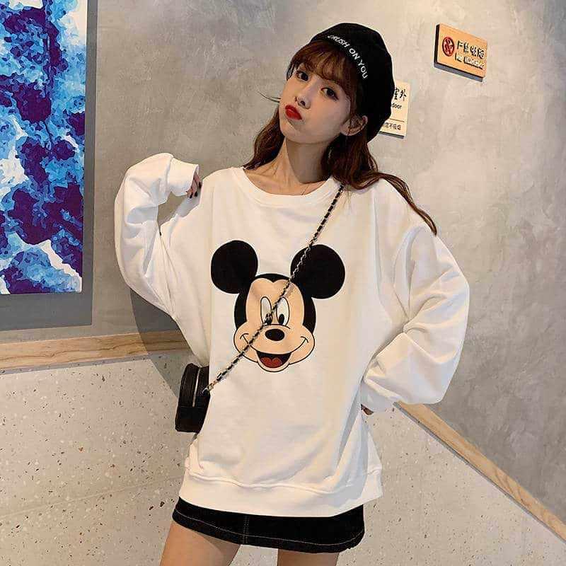 NiceMix Lose Kawaii Hoodie Frauen Damen Casual sweatershirt Cartoon plus größe kawaii Neue Gedruckt Langarm Shirts Weibliche Nette