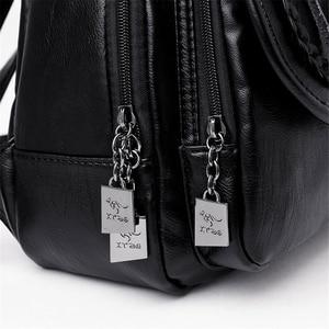 Image 5 - Weave Backpack Female Genuine Leather Backpack Women Large Capacity Travel Bag Zipper Shoulder Bags for Women 2020 Sac