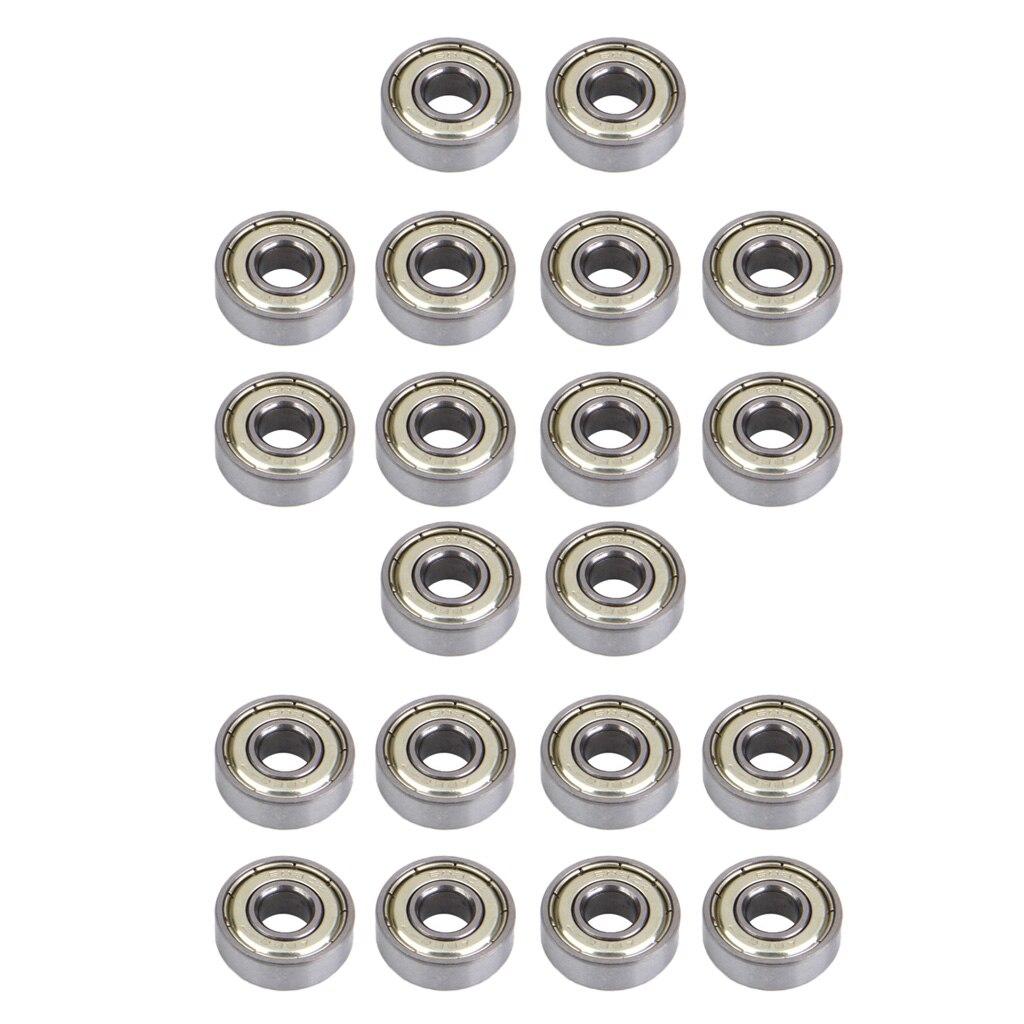 Premium Inline Skate Bearings, Roller Skate Bearings, 608, ABEC (Pack Of 20)