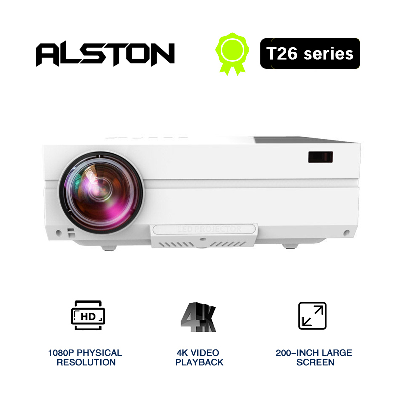 ALSTON Full HD Projector T26 series Native 1080P 5500 Lumens Video LED LCD Home Cinema Theater