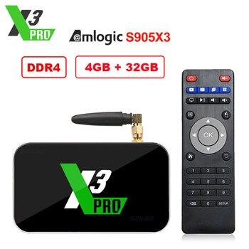 Ugoos X3 Pro TV Box Amlogic S905X3 Android 9.0 4G 32G X3 Cube X3 Pro 2.4G/5G Dual WiFi 1000M LAN HD Smart Media Player X3 Pro