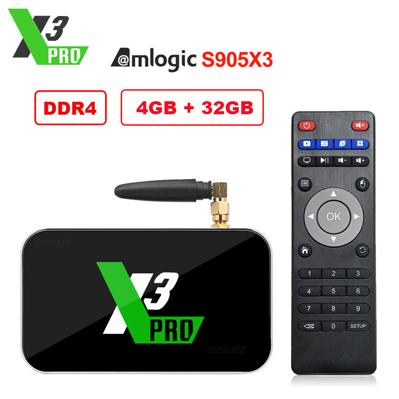 Ugoos X3 <font><b>Pro</b></font> <font><b>TV</b></font> <font><b>Box</b></font> Amlogic S905X3 Android 9.0 4G 32G X3 Cube X3 <font><b>Pro</b></font> 2.4G/5G Dual WiFi 1000M LAN HD <font><b>Smart</b></font> Media Player X3 <font><b>Pro</b></font> image