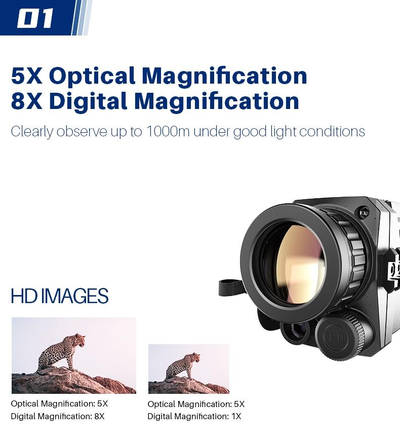 telescópio zoom óptica 200m alcance para caça dispositivos de visão noturna