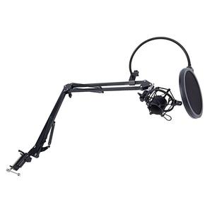 Image 3 - NB 35 mikrofon makas kol standı ve masa montaj kelepçesi ve NW filtre cam kalkanı ve Metal montaj kiti