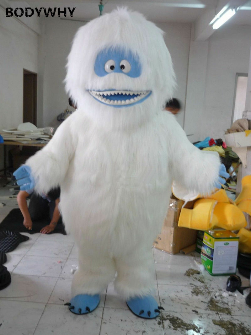 NEW Yeti Abominable Snowman Mascot Costume Suits Cosplay Dress Halloween Outifts Newly Birthday Xmas Gifts