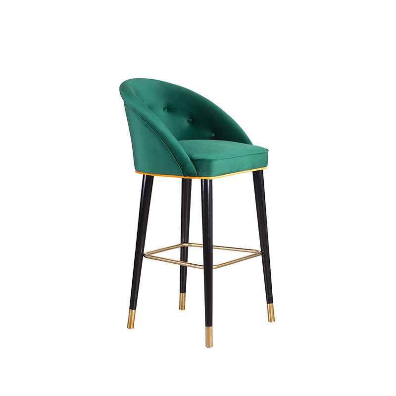 Solid Wood Bar Chair American Retro Creative High Chair Modern Minimalist Fashion Nordic Bar Chair Light Luxury Bar Chair