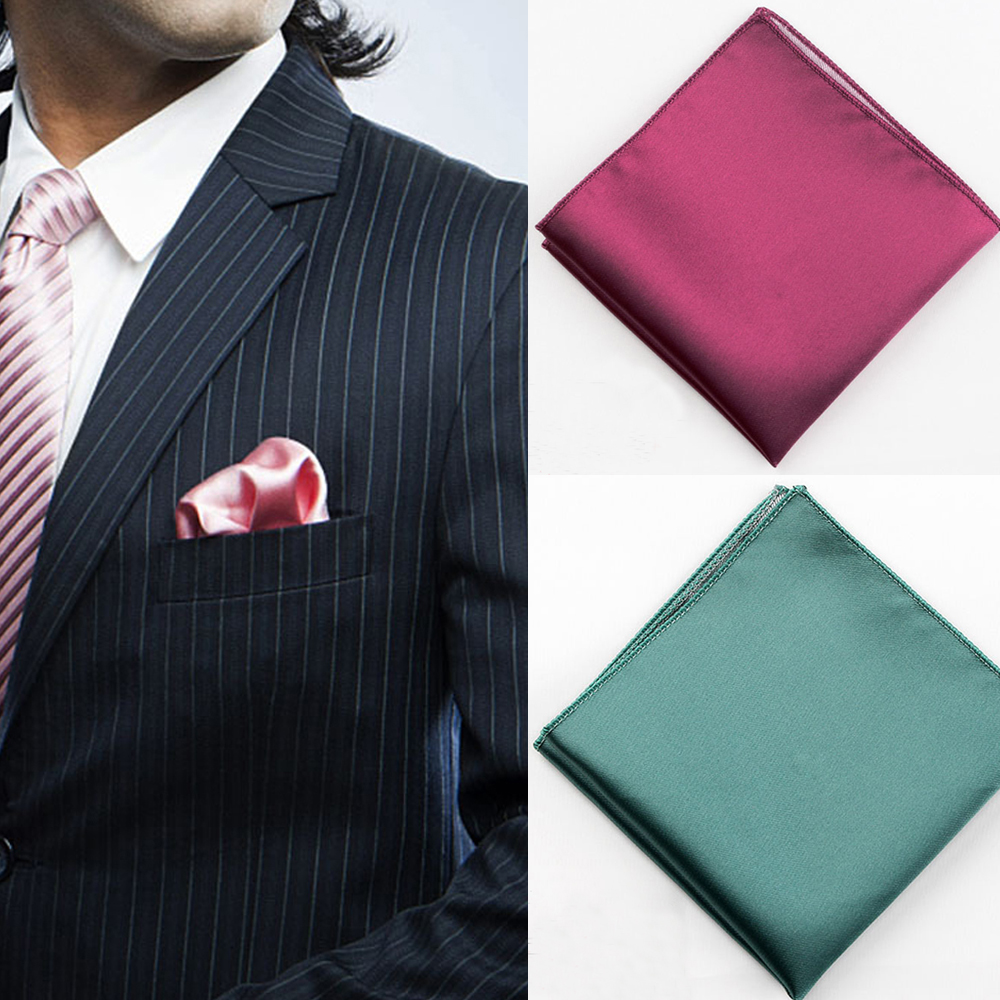 England Solid Color Men Suit Pocket Handkerchief Pocket Scarf  Wedding Dress Chest Towel Handkerchief Clothing Accessories
