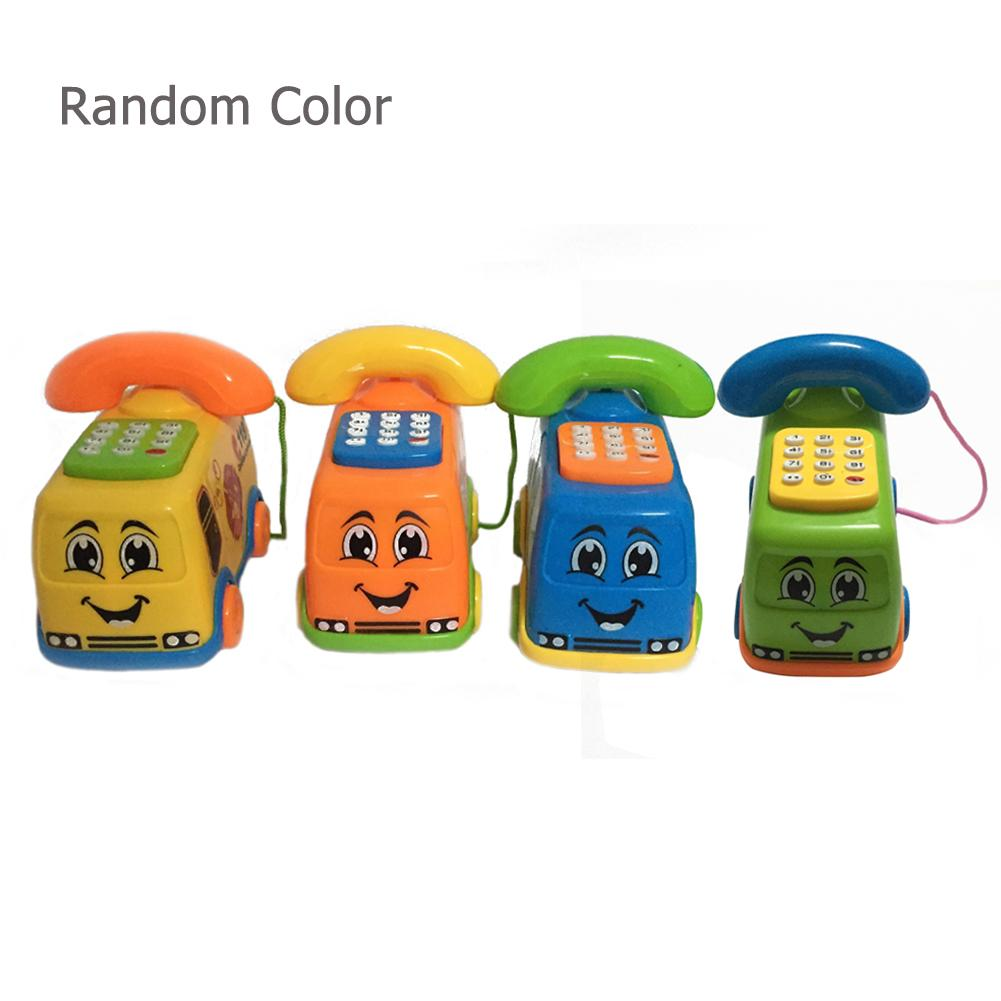 Baby Toys Music Cartoon Bus Phone Educational Developmental Kids Toy Gift