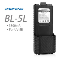 BAOFENG BL-5L 7.4V 3800mAh Li-ion Battery for UV-5R DM-5R TP F8+ UV-5R Plus Walkie Talkie Two Way Original Accessories