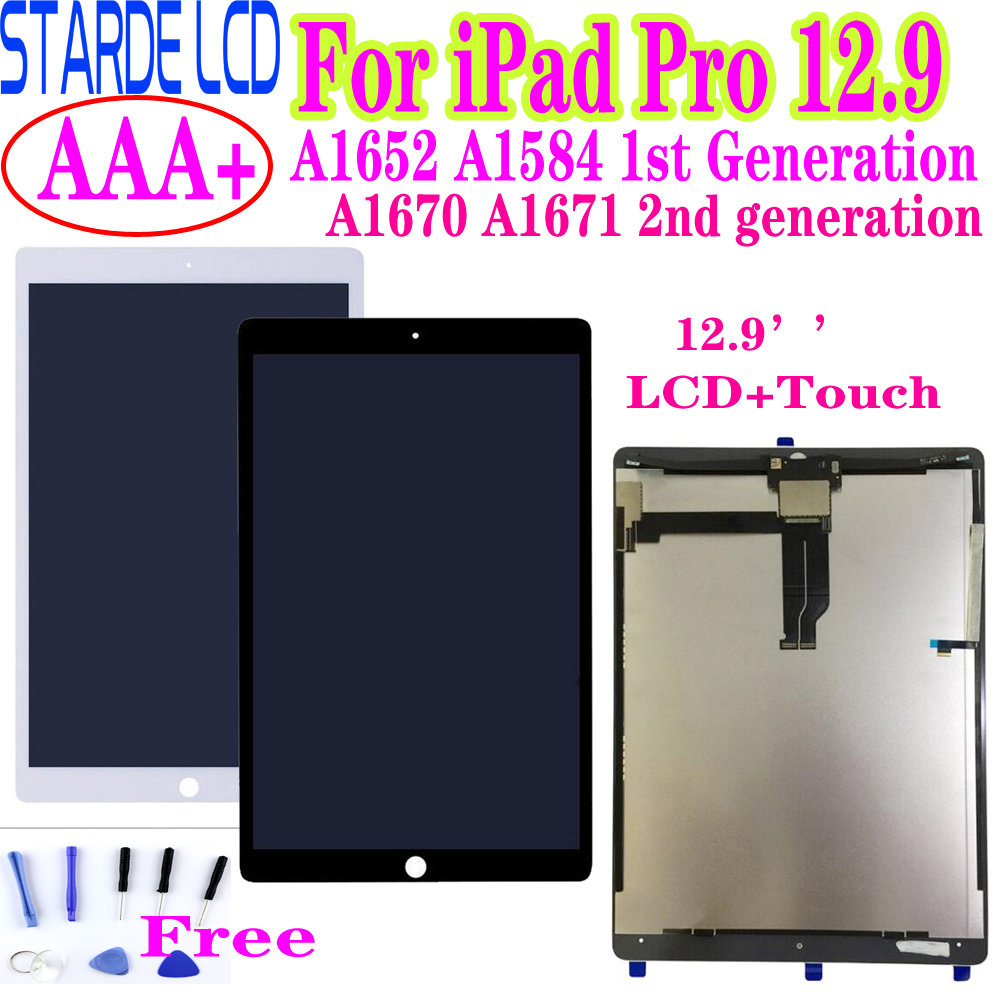 STARDE Replacement LCD For IPad Pro 12.9 A1584 A1652 / 12.9'' 2nd A1670 A1671 LCD Display Touch Screen Digitizer Assembly 12.9