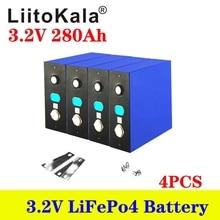 4pcs 3.2V 105A 200Ah 280Ah LiFePO4 סוללות ליתיום ברזל phospha DIY 12V 24V אופנוע חשמלי רכב שמש מהפך סוללה
