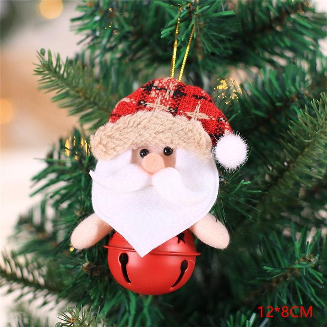 New Year 2020 Cute Santa Claus/Snowman/Angel Christmas Dolls Noel Christmas Tree Decoration for Home Xmas Navidad 2019 Kids Gift 65