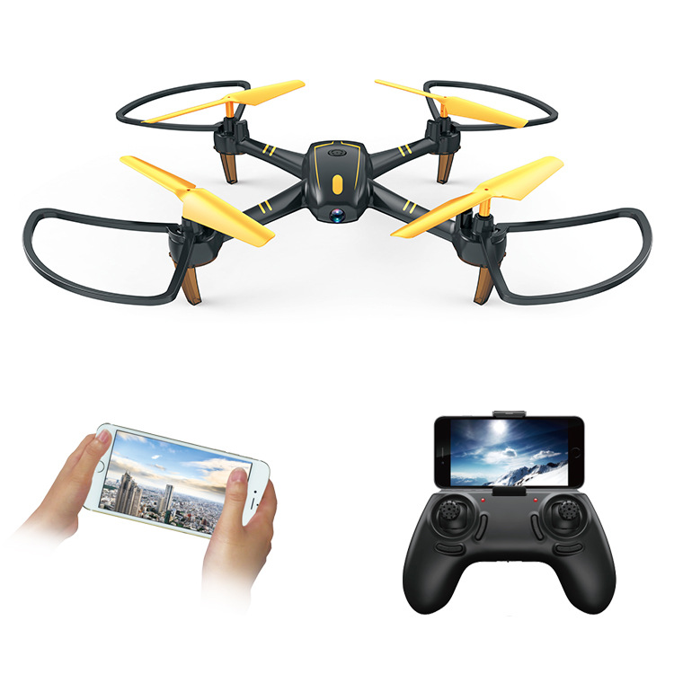Unmanned Aerial Vehicle Aerial Photography WiFi Real-Time Image Transmission Quadcopter Ultra-Long Time Flight Set High Remote-c