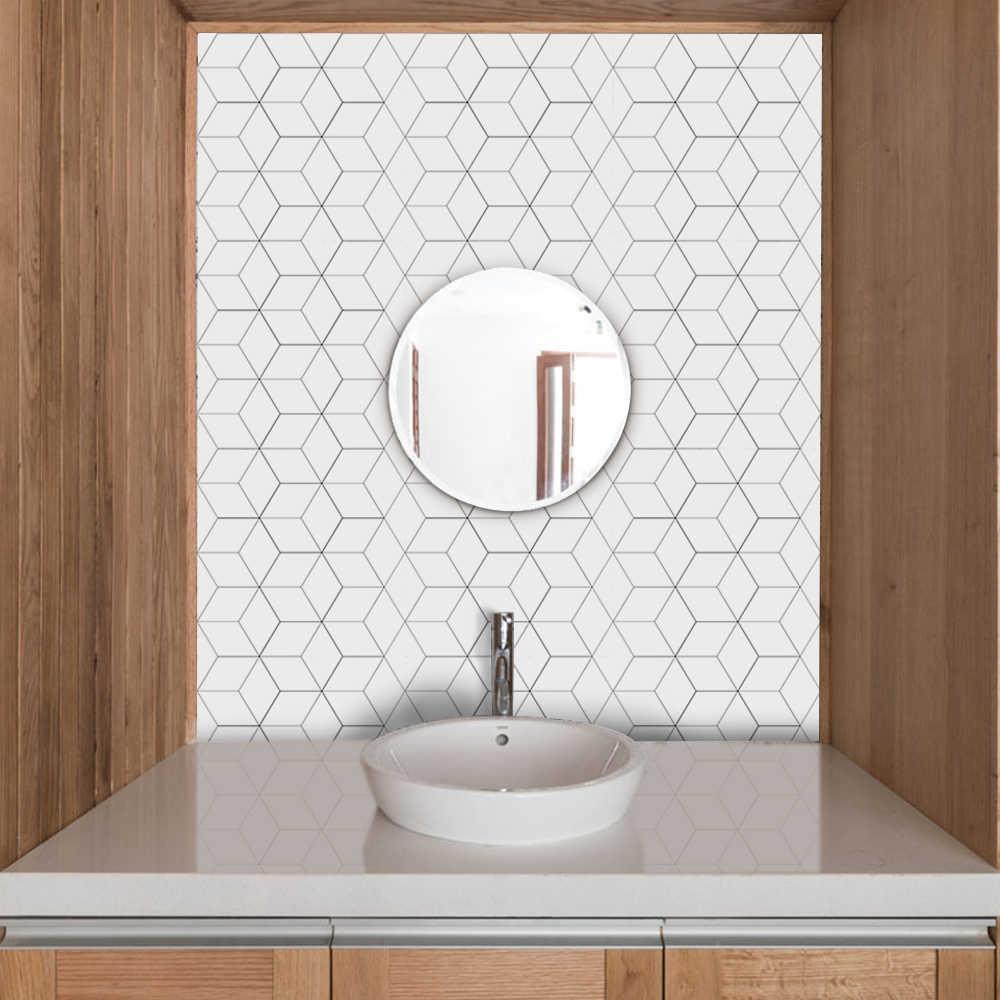 Funlife Stiker Ubin Backsplash Dapur Stiker Dinding Perekat Ubin Mosaik Kamar Mandi Tahan Air Diseduh Sendiri Nordic Modern Dekorasi Rumah