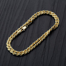 925 silver 3MM Wide twist chain Rope Chain Necklace Gold Silver For Men Women Hip Hop Jewelry