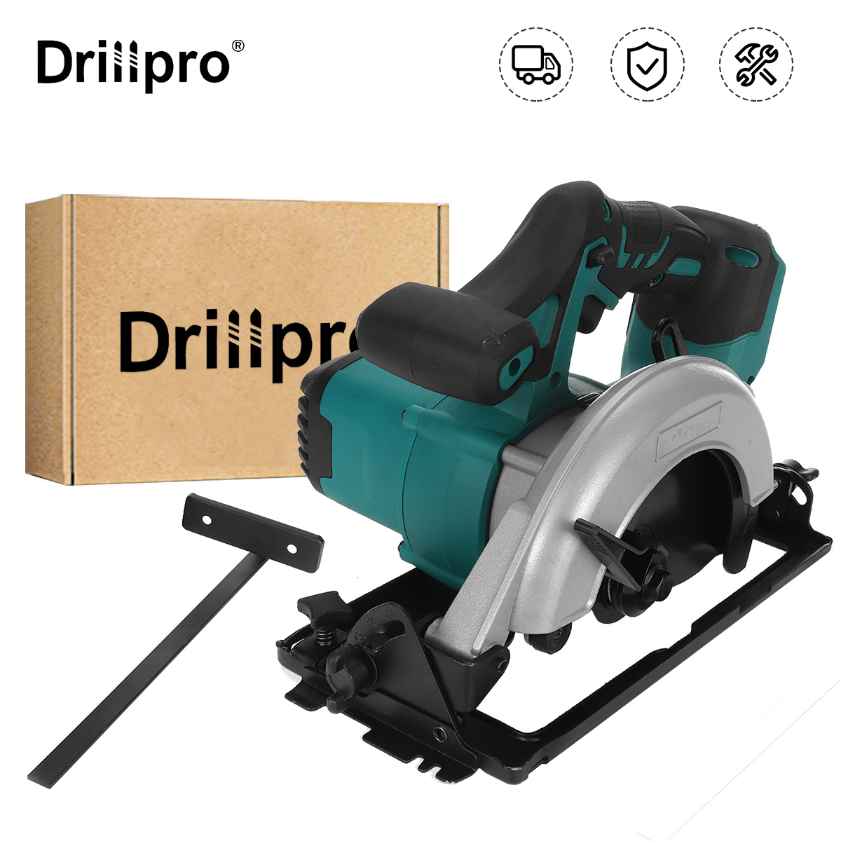 Drillpro 18V Cordless Electric Circular Saw for Makita 18V Battery 300W 152mm 6inch Blade Woodworking Cutting Tool