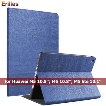 цена Trifold Case for Huawei M5 Lite M6 10.8 inch Slim PU Leather Flip Cover for Huawei MediaPad M5 10.1 inch Tablet Smart Case онлайн в 2017 году